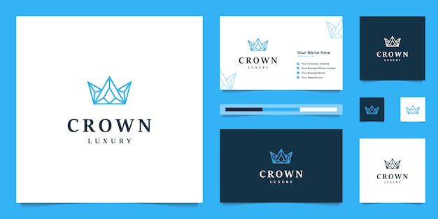 Элегантный простой дизайн логотипа короны, символ королевства, короля и лидера.