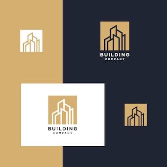 ロゴのインスピレーションの建物