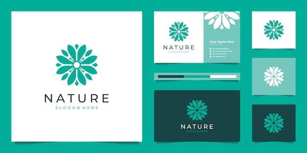 エレガントな花のロゴデザインの要約。