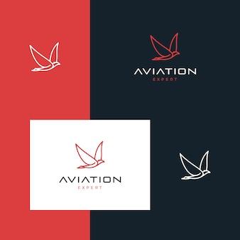 Вдохновенный дизайн логотипа авиации.