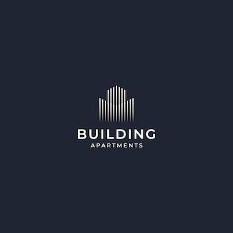 インスピレーションロゴデザイン建物エレガント