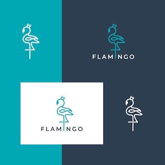 Красивый логотип фламинго