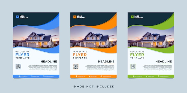 Флаер шаблон недвижимости с фотографией