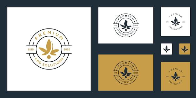 Кбр / марихуана / каннабис премиум логотип вдохновение