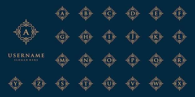 Бутик дизайн логотипа инициалы алфавит