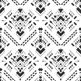 抽象的な幾何学的なアステカのシームレスパターン