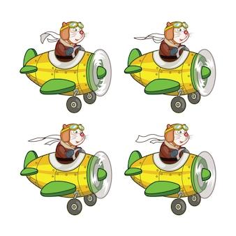 マウスパイロットフライングプレーンアニメーションスプライト