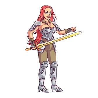 女性ファンタジー戦士
