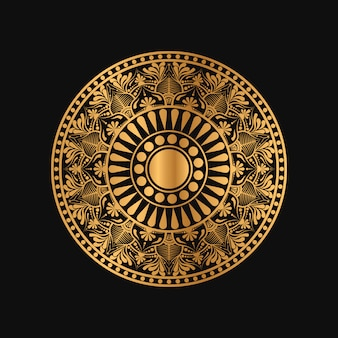 Геометрическая мандала в золотом цвете