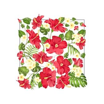 熱帯の花の素晴らしいパターン。