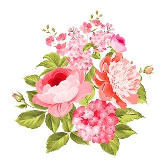 夏の花の花束