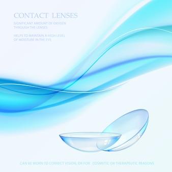Сцена науки с знаком контактных линз.