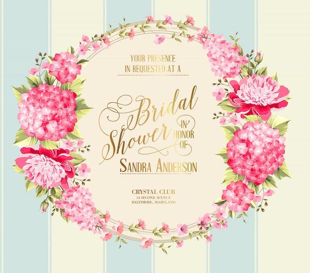 Потрясающая винтажная свадебная душевая карта