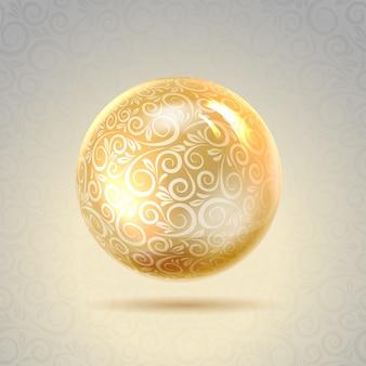 Золотой блестящий перл