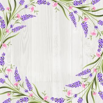 夏の花の花輪フレームの背景