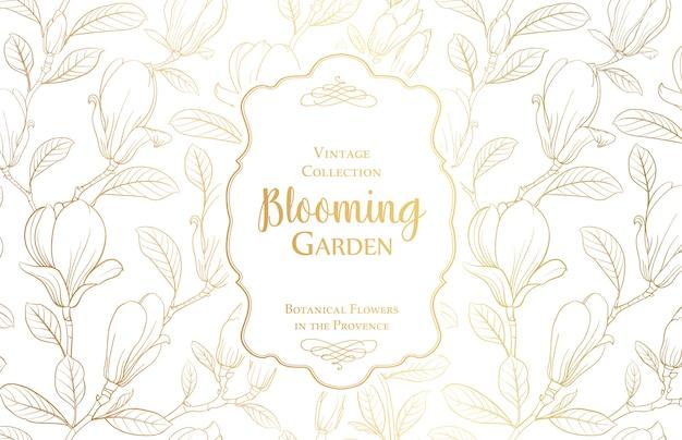 Цветущий садовый баннер