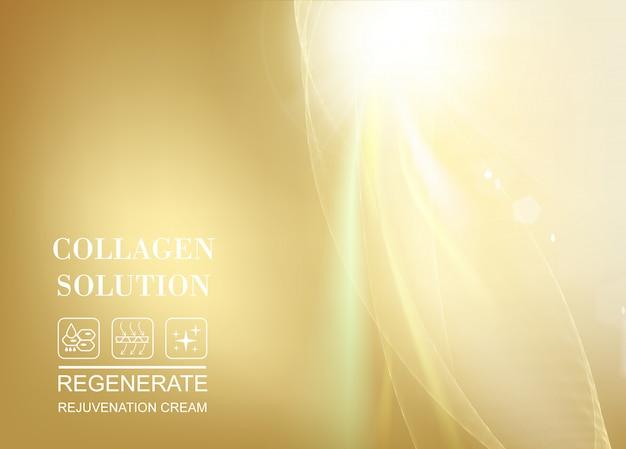 Солнечный луч, сияющий в верхней части изображения над золотым градиентом