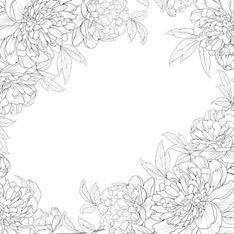 牡丹の花輪の春の花の花束。