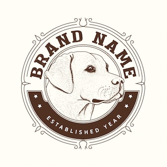 犬ブランドのロゴデザイン