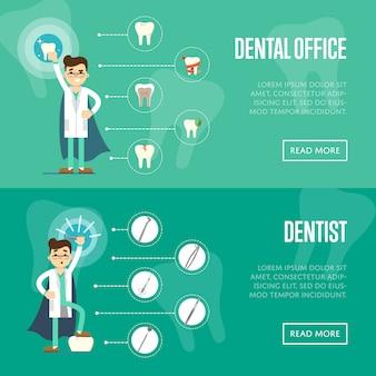 Шаблон горизонтального баннера для стоматологического кабинета