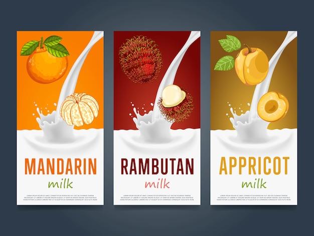 Фрукты молочный коктейль всплеск десертный коктейль