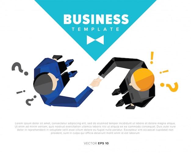 Шаблон иллюстрации рукопожатия бизнесмена