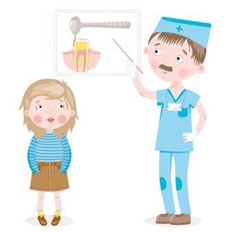 Девушка на приеме у стоматолога