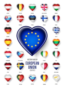Флаги стран европейского союза