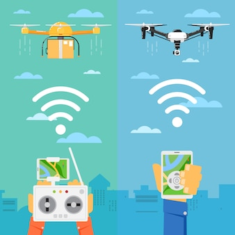 Технология дронов с летающими роботами