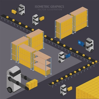 Иллюстрация складской цепи