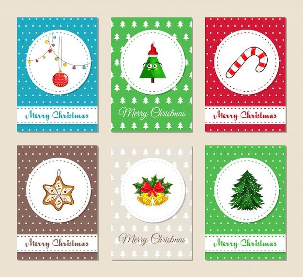 クリスマスのグリーティングカードと招待状セット