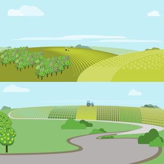 Поле фермы, иллюстрация