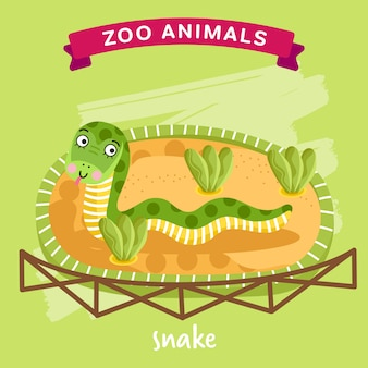 Зоопарк животное, змея