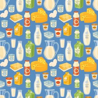 乳製品のシームレスパターン