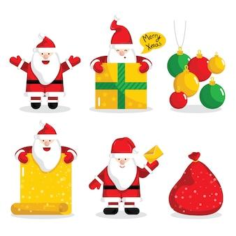 クリスマスサンタクロースのキャラクターコレクション