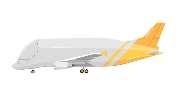 白で隔離される飛行機