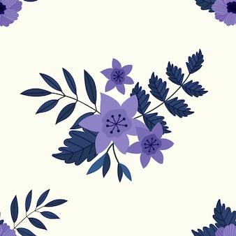 Фиолетовые цветы бесшовные модели