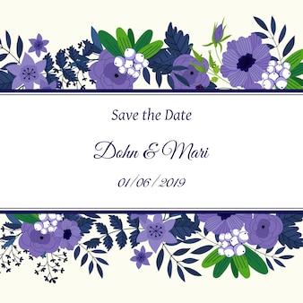 Сохрани дату цветочная открытка