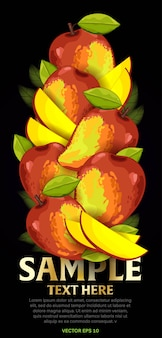 Фруктовая смесь с листьями