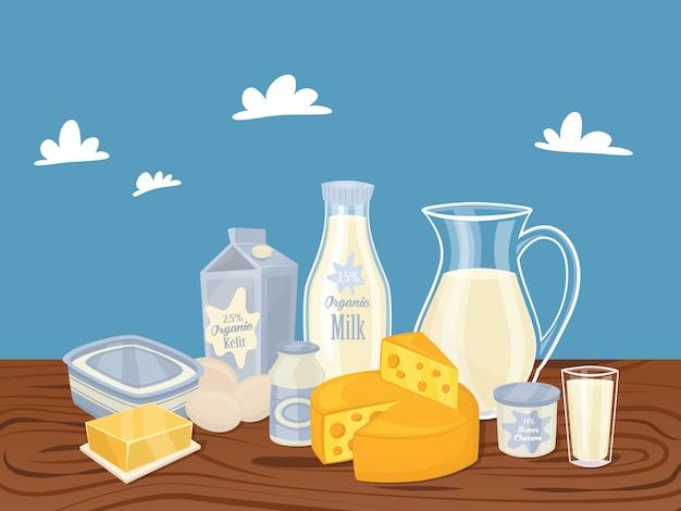 Молочные продукты изолированы