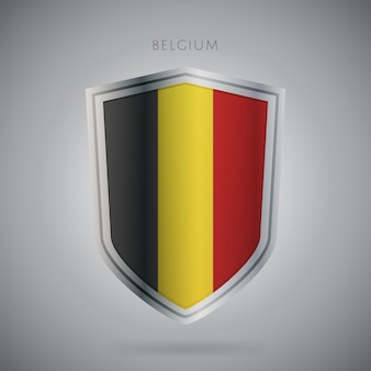 Европа флаги серии бельгия значок.