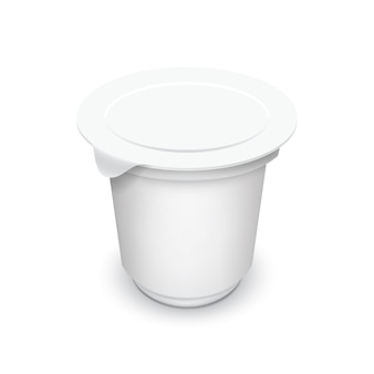 Пустой шаблон упаковки, изолированные на белом.