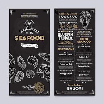 Дизайн шаблона меню ресторана кафе, вектор