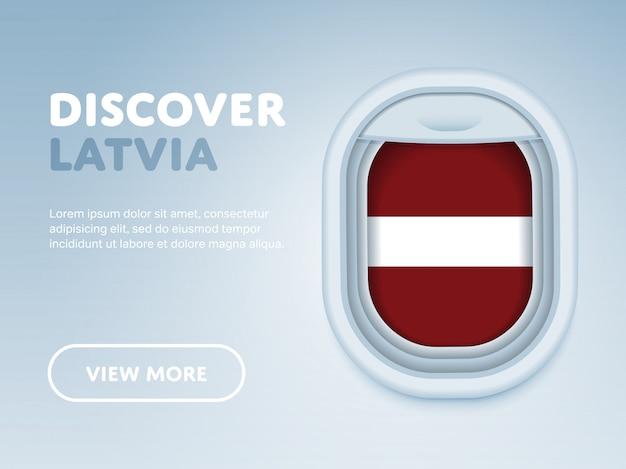 飛行機で旅行します。フラットベクターデザインバナーテンプレート