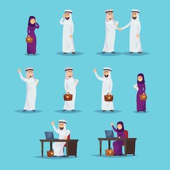アラブのビジネスマンが正常に動作するように設定する