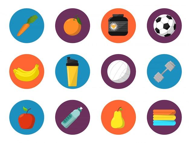 Коллекция элементов спортивного обмундирования