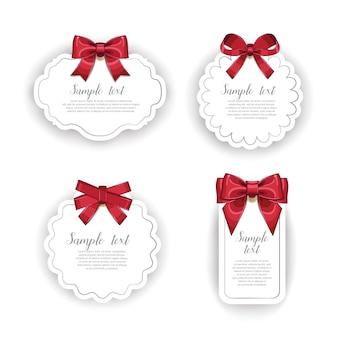 Красивые открытки с подарочными бантами с лентой