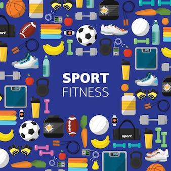 Спортивное оборудование, плоский значок