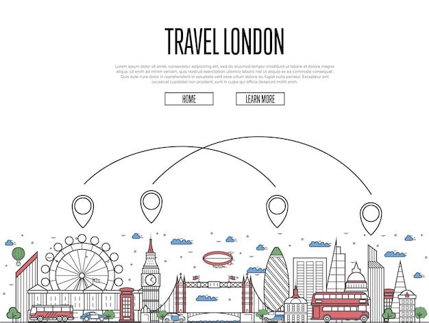 リニアスタイルで旅行ロンドンのウェブサイト