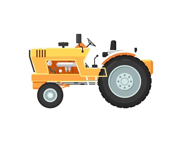 Винтажный сельскохозяйственный трактор изолированных иллюстрация